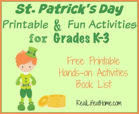 st patrick's day printables for kids