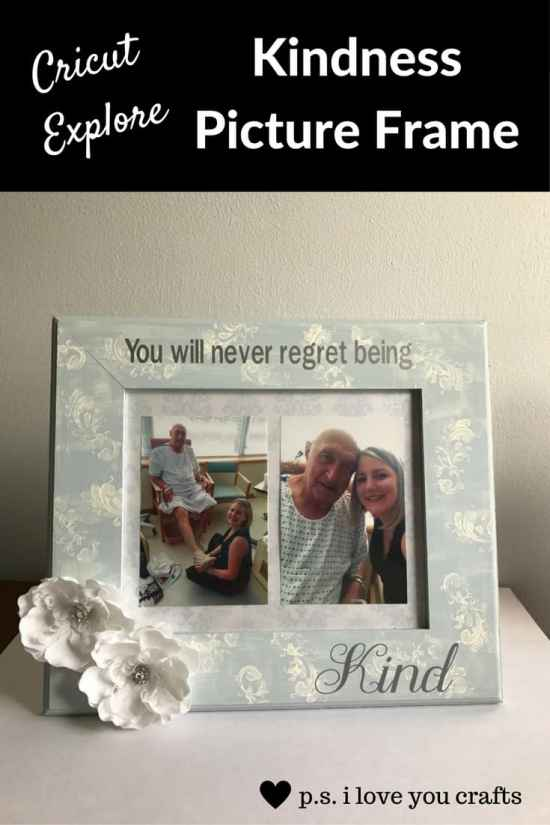 Kindness Picture Frame - Here are more than 20 DIY Picture Frames for you to make. You can use plain wooden frames from the craft store or you can upcycle and old frame.
