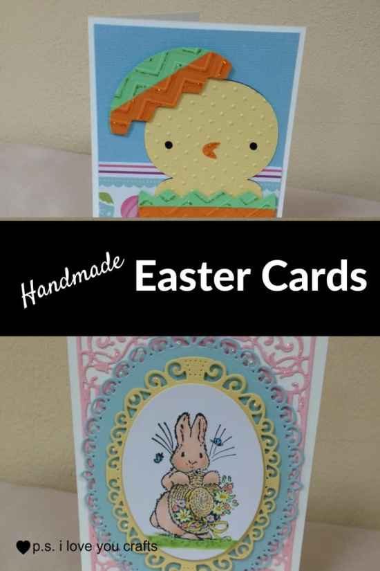 Handmade Easter Card Ideas - Here are some Handmade Easter Cards that I've made using rubberstamps, the Cricut, Copic Markers, Spellbinders, and more!