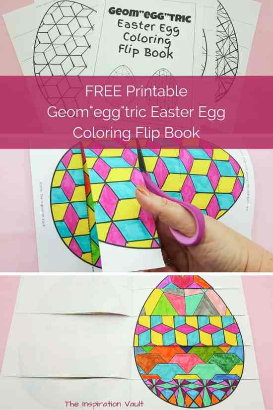 Geometric Easter Egg Coloring Pages and Flip Book - Easter Paper Crafts are so fun and easy to make. Here's a variety of cards, printables, and home decor to keep you and the kids busy.