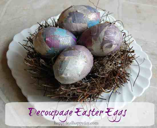 Decoupage Easter Eggs - Easter Paper Crafts are so fun and easy to make. Here's a variety of cards, printables, and home decor to keep you and the kids busy.