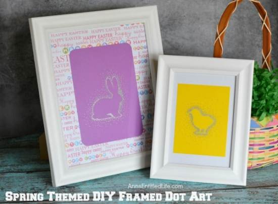 Easter Framed Art - Easter Paper Crafts are so fun and easy to make. Here's a variety of cards, printables, and home decor to keep you and the kids busy.