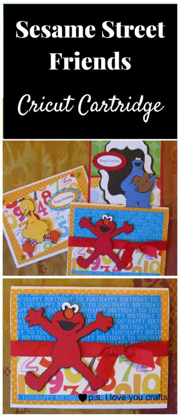 The Sesame Street Friends Cricut Cartridge has Big Bird, Elmo, Cookie Monster, Oscar the Grouch, and all of the lovable Sesame Street Characters. This cartridge is great for preschool and kindergarten aged birthday cards, favors, decorations and scrapbook pages.