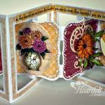 Gorgeous Spring Flower Accordian Card With Heartfelt Creations