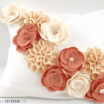 Felt Flowers for Home Decor or Fashion Accessories