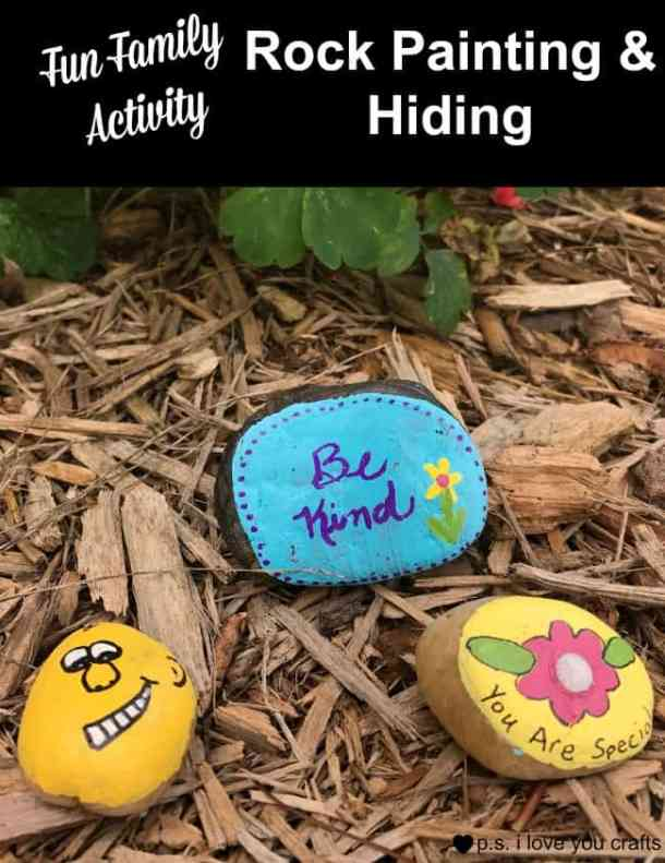 Painting and hiding rocks is a fun family activity. Rock painting is very popular. Writing inspirational messages and hiding them has become a fun community activity. Here is a list of supplies needed. and a story of how it got started.