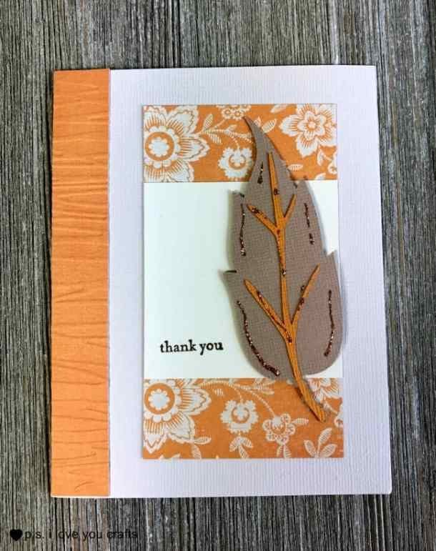 Make an easy Cricut Thank You Card using the Cricut Expression or the Cricut Explore. This is a great card, using a sketch from Clean and Simple Stamping.