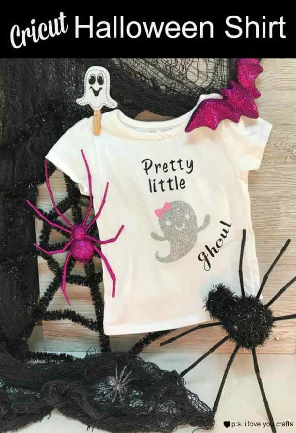 Make a Baby Halloween Shirt using the Cricut Explore or Cricut Maker. This is a cute halloween shirt for a little girl.