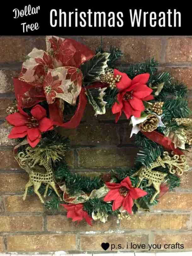 Dollar Tree Christmas.Dollar Tree Christmas Wreath P S I Love You Crafts