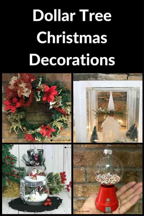 Diy Dollar Tree Christmas Decorations P S I Love You Crafts