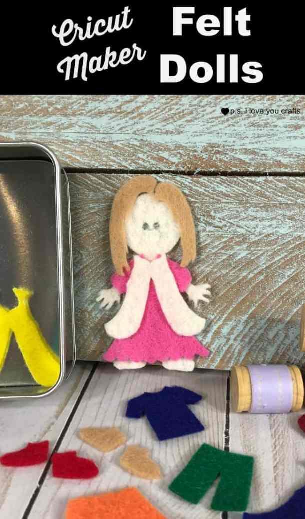 Make Felt Dolls with the Cricut Maker #cricutmaker #cricut