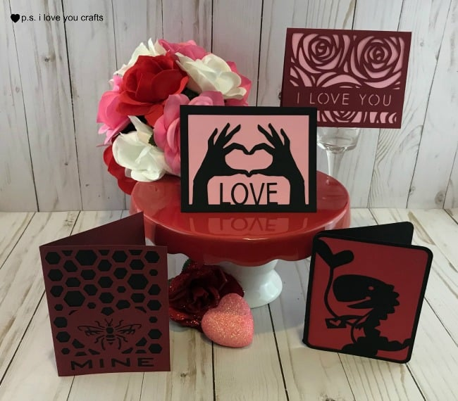 Easy Cricut Valentine Cards - P.S. I Love You Crafts