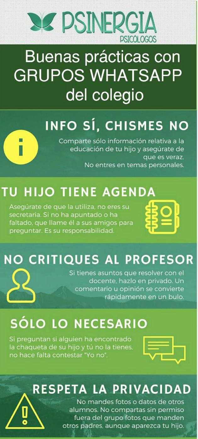 Normas de buen uso de Grupos de Whatsapp del colegio