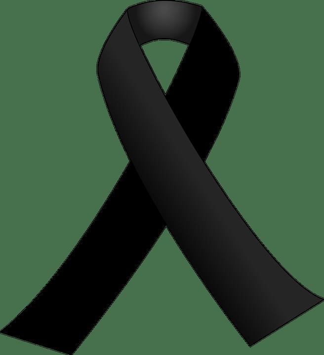 lazo negro de luto