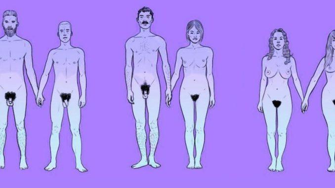 Personas desnudas con salud sexual