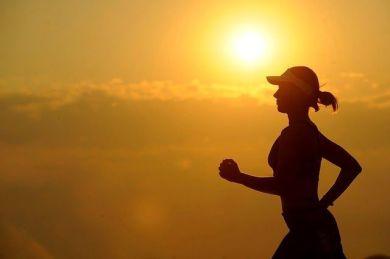 corriendo para una dieta saludable