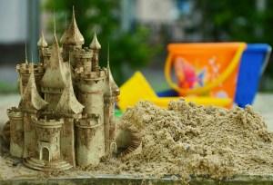 Castillo de arena artístico