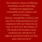 Psi Upsilon Statement regarding the Death of George Floyd