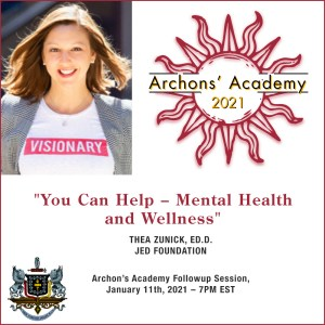"""1.11.2021 – """"You Can Help – Mental  Health and Wellness"""""""