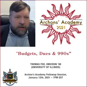 1.12.2021 – Budgets, Dues, & 990s