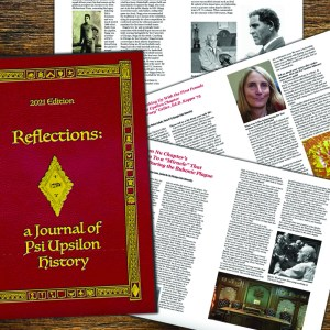"""History & Archives committee releases """"Reflections: A Journal of Psi Upsilon History"""""""