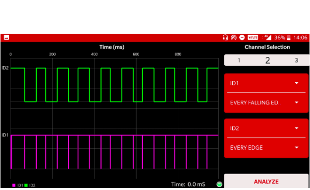 Working with Logic Analyzer in PSLab Android app
