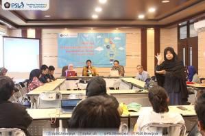 Suasana pelaksanaan Workshop Penulisan Akademik di Meeting Room Gedung Layanan Bersama Universitas Brawijaya pada Selasa, 4 September 2018.