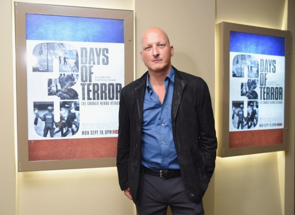 Filmmaker Dan Reed attends the New York premiere of Three Days Of Terror: The Charlie Hebdo Attack.
