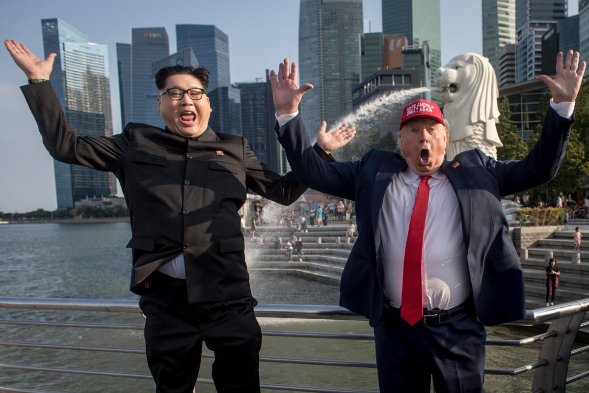Viewfinder Donald Trump And Kim Jong Un Impersonators