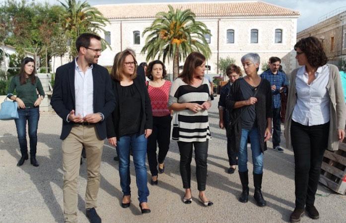 PSOE Maó en la presentació de la nova residència geriàtrica de Maó