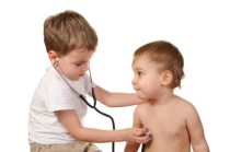 children play doctor