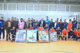 اللجنة الرياضية بخان يونس تنظم مباراة تكريمية على شرف الأسير محمد جمال أبو رمضان