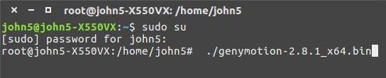 instalar genymotion desde terminal