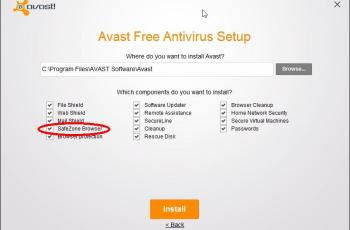 no instalar avast safezone browser