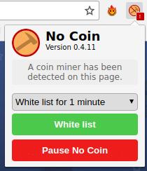 web detectada por No Coin