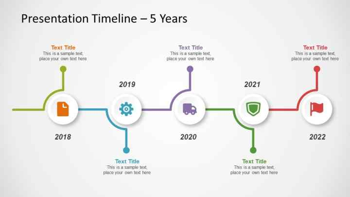 linea tiempo powerpoint template