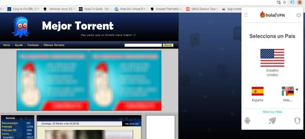 mejor torrent con Hola! VPN