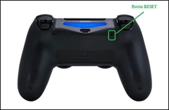 Botón reset de PS4