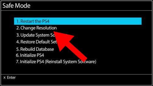 cambiar resolución PS4