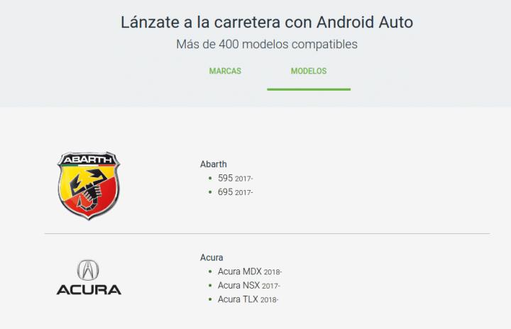 vehículos compatibles Android Auto