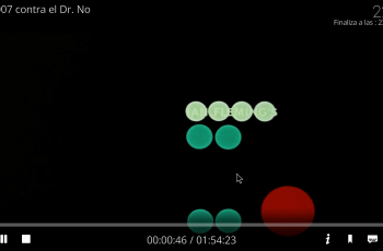 mute botón volumen rojo en Kodi
