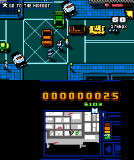 Mikage ejecutando Retry City Rampage