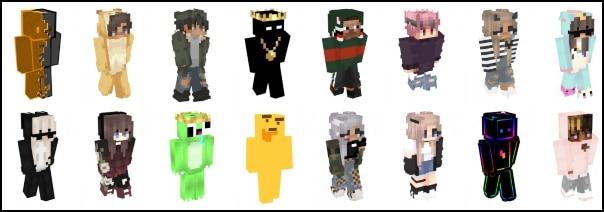 skins Minecraft más descargados