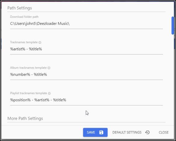Configurar Deezloader