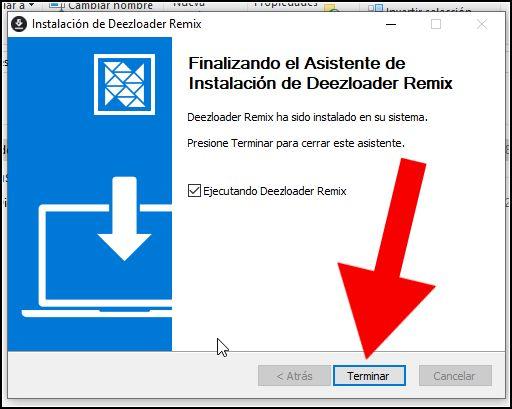 Ejecutando Deezloader Remix