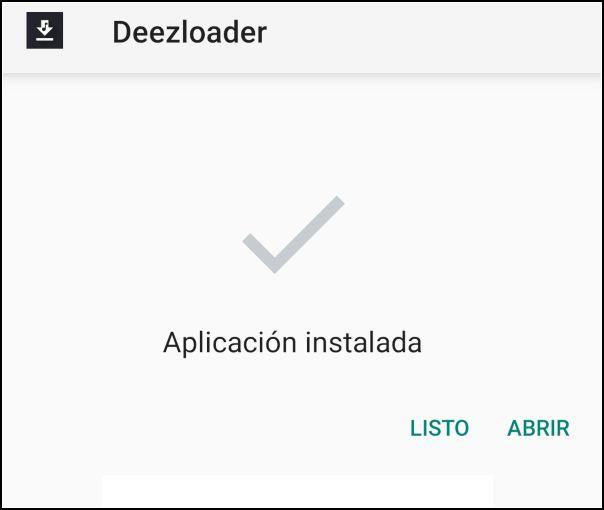 Deezloader Android instalada