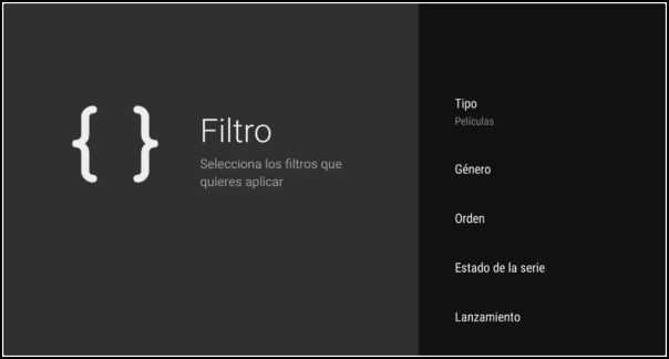 filtro octostream tv