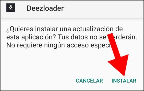 Instalador Deezloader Android
