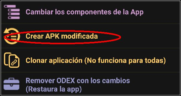 crear APK modificada