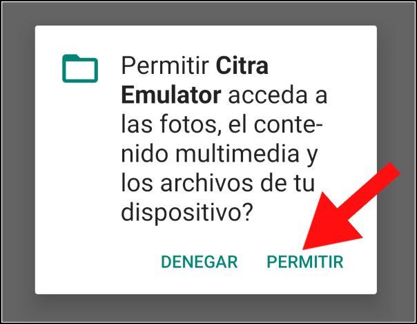 Permisos Citra Emulator